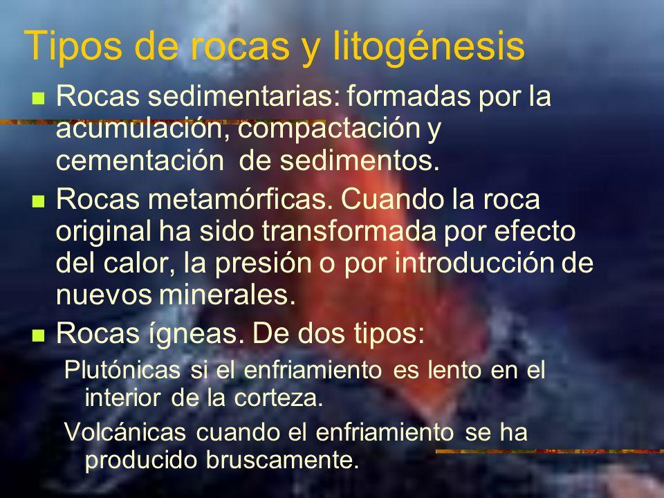 Tipos de rocas y litogénesis
