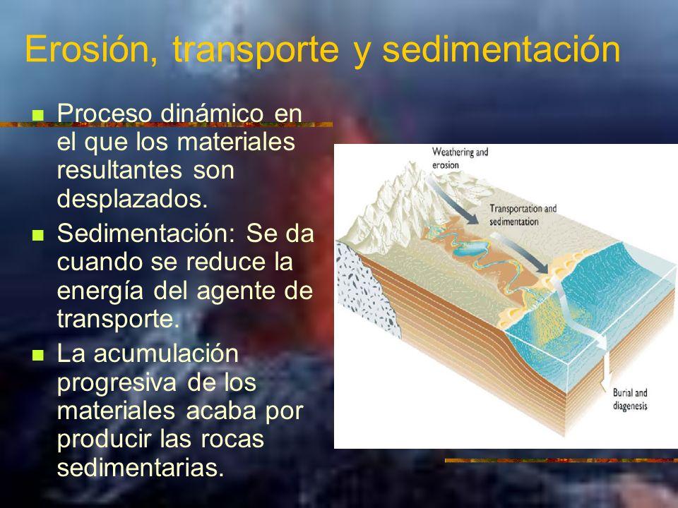 Erosión, transporte y sedimentación