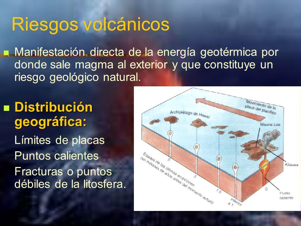 Riesgos volcánicos Distribución geográfica: Límites de placas
