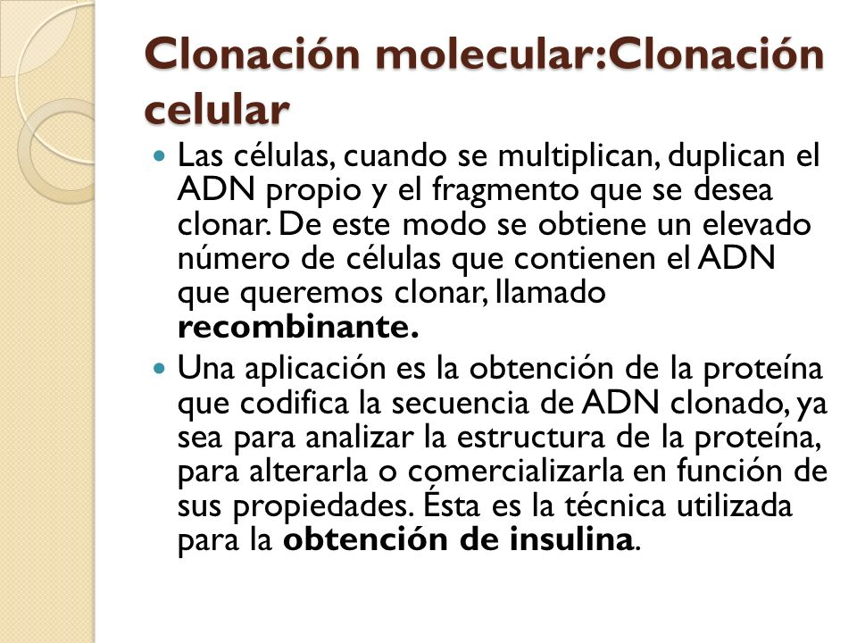 Clonación molecular:Clonación celular