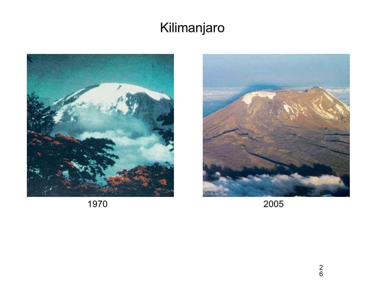 Kilimanjaro 1970 2005 26 2626