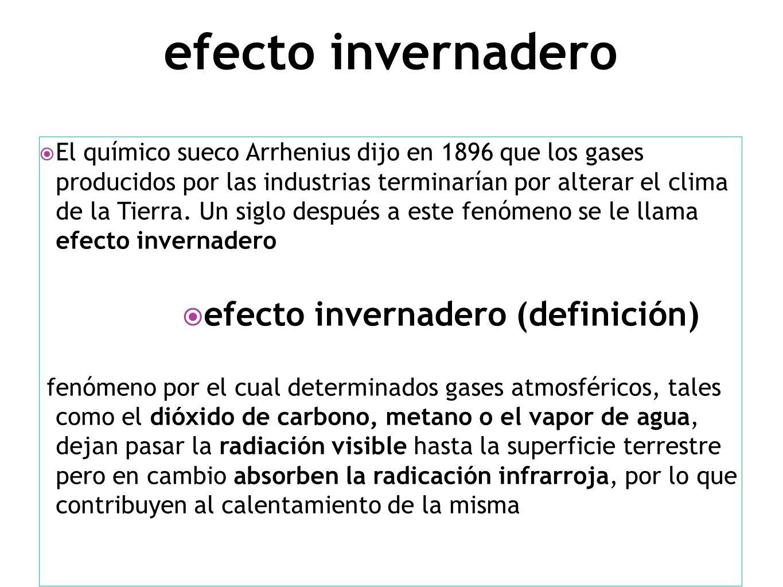 efecto invernadero efecto invernadero (definición)