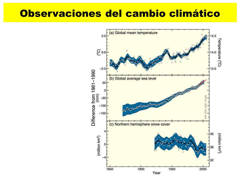 Observaciones del cambio climático