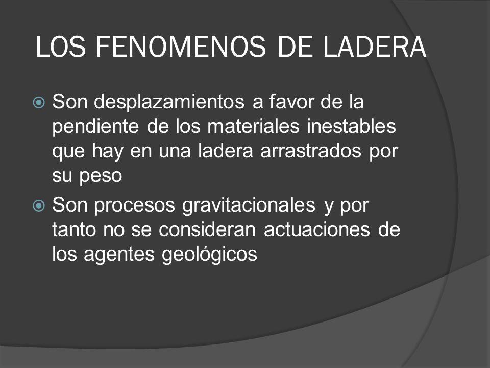 LOS FENOMENOS DE LADERA