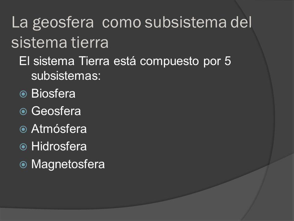 La geosfera como subsistema del sistema tierra