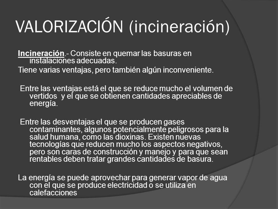 VALORIZACIÓN (incineración)
