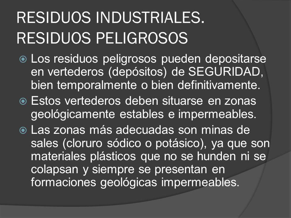 RESIDUOS INDUSTRIALES. RESIDUOS PELIGROSOS