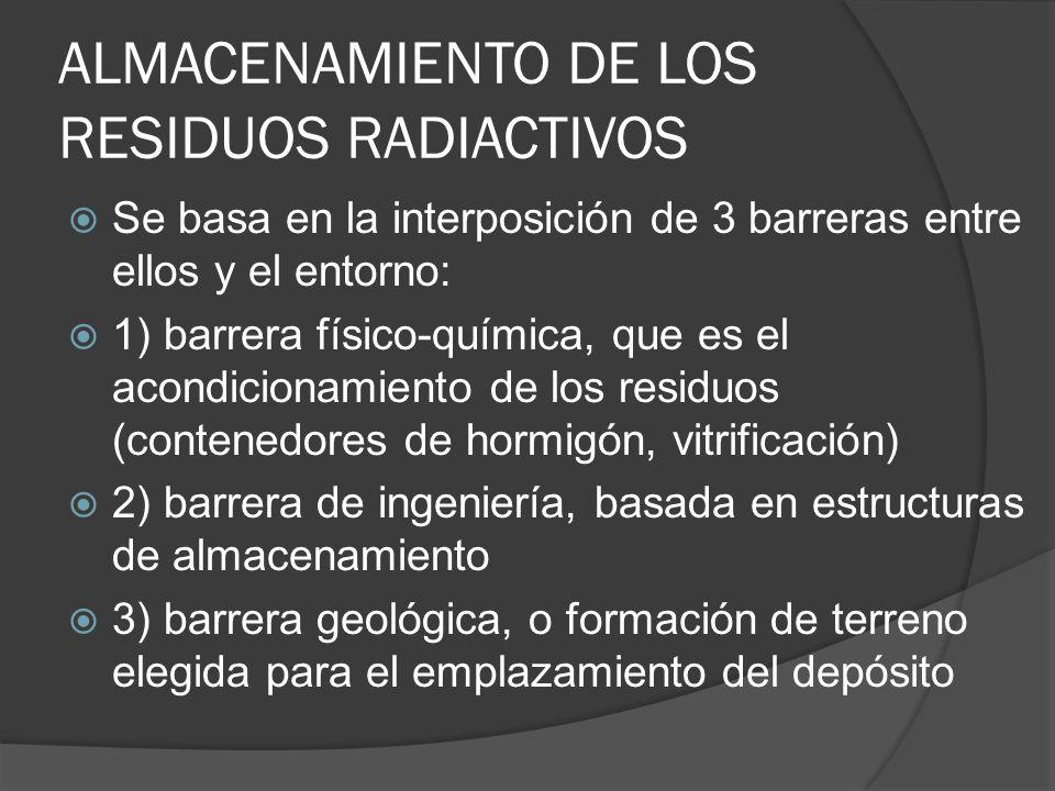 ALMACENAMIENTO DE LOS RESIDUOS RADIACTIVOS