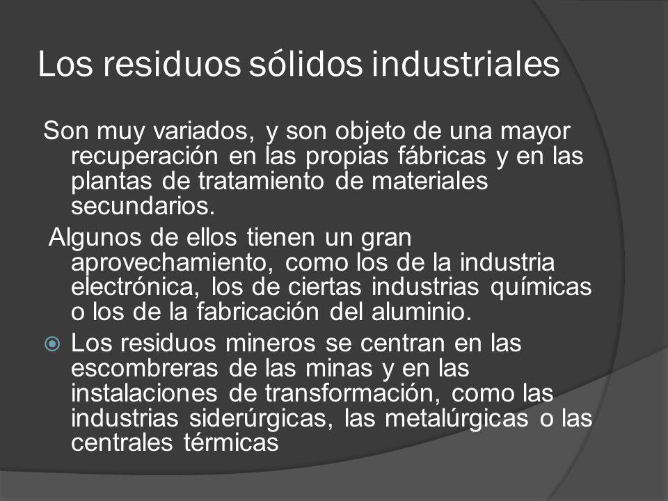 Los residuos sólidos industriales