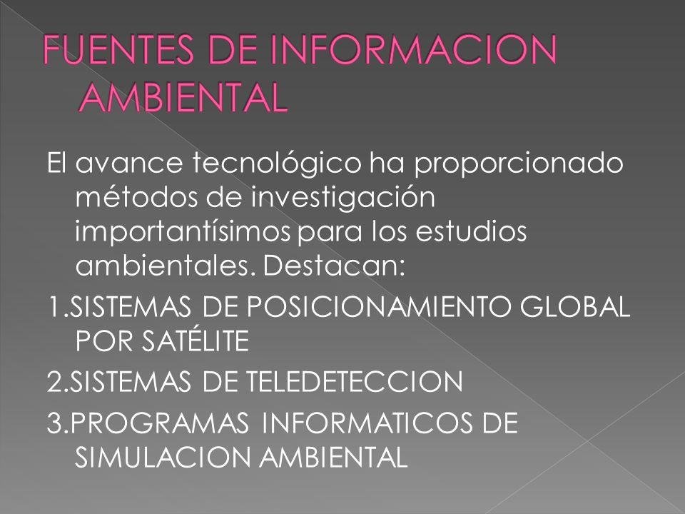 FUENTES DE INFORMACION AMBIENTAL
