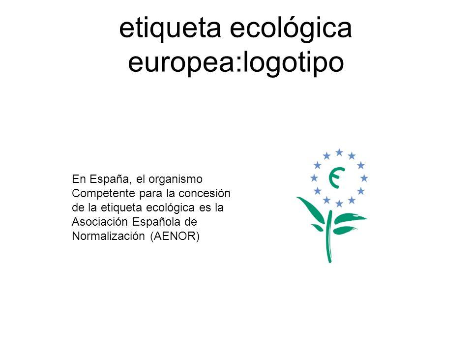 etiqueta ecológica europea:logotipo