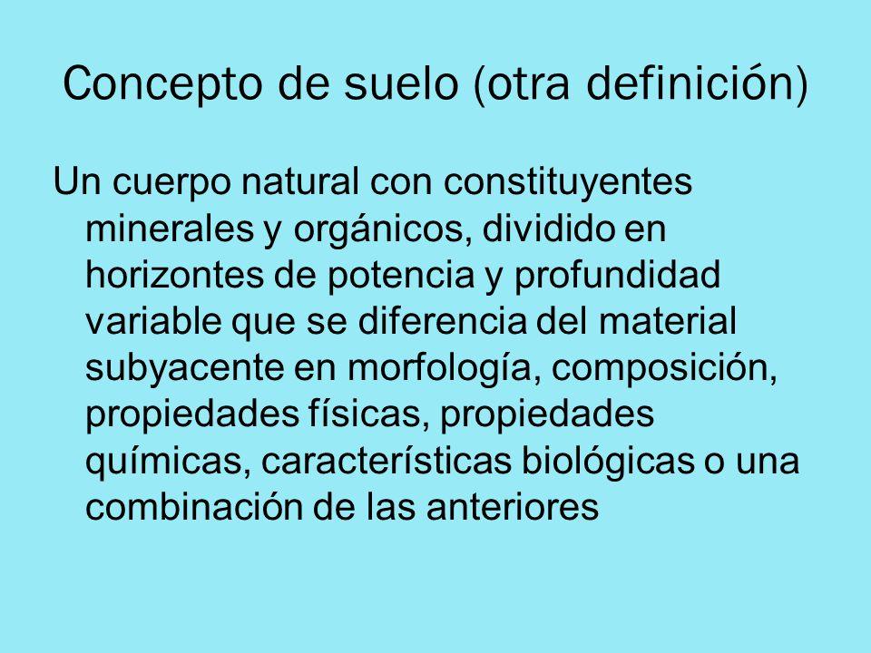 Concepto de suelo (otra definición)