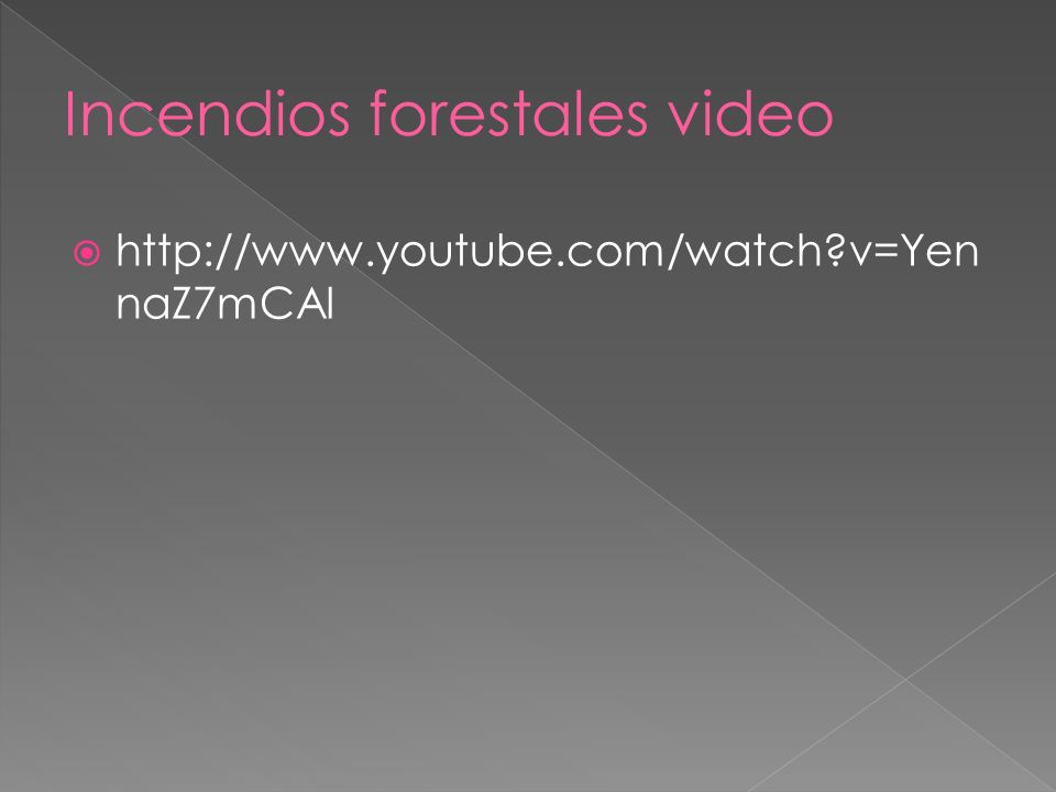 Incendios forestales video