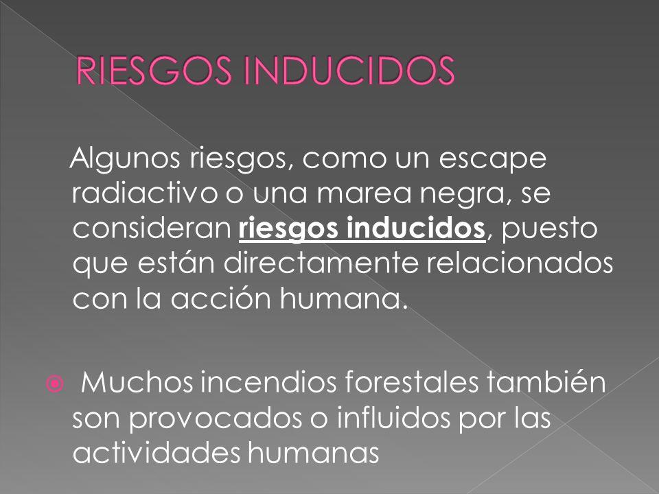 RIESGOS INDUCIDOS