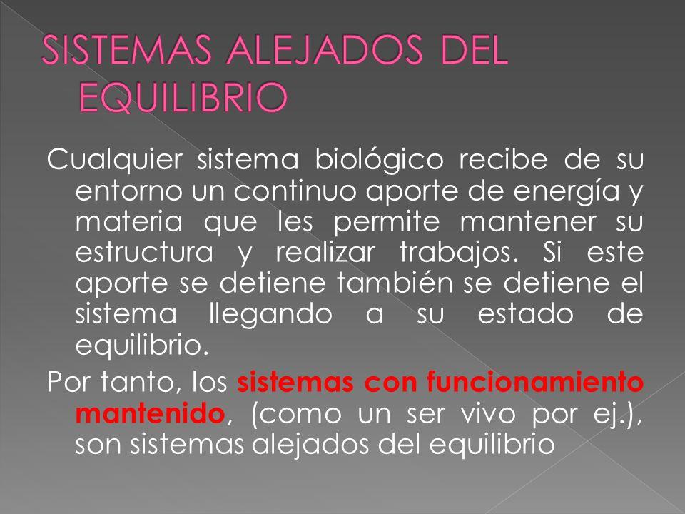 SISTEMAS ALEJADOS DEL EQUILIBRIO