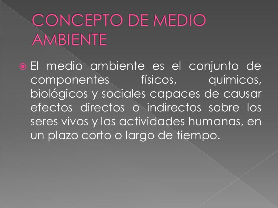 CONCEPTO DE MEDIO AMBIENTE