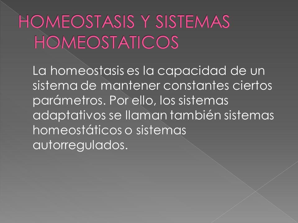 HOMEOSTASIS Y SISTEMAS HOMEOSTATICOS