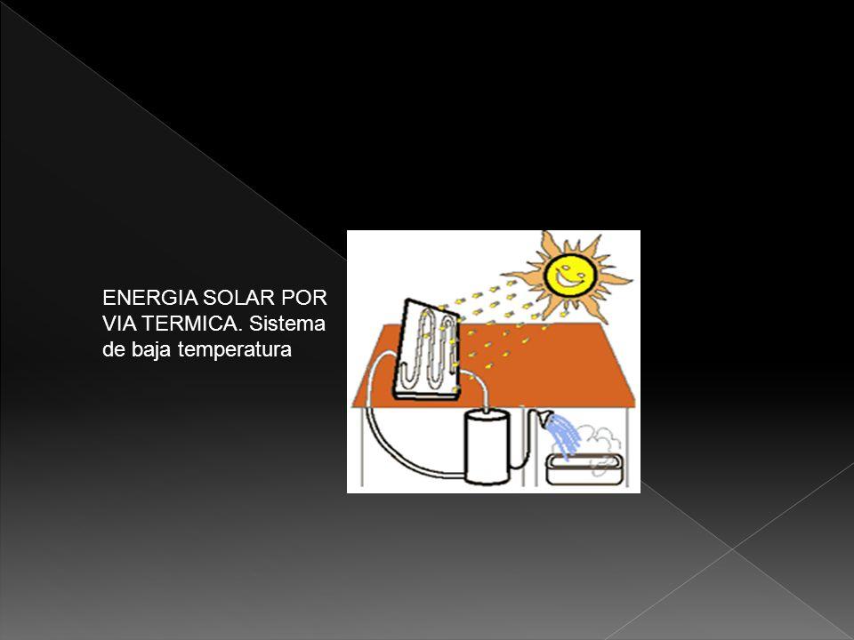 ENERGIA SOLAR POR VIA TERMICA. Sistema de baja temperatura