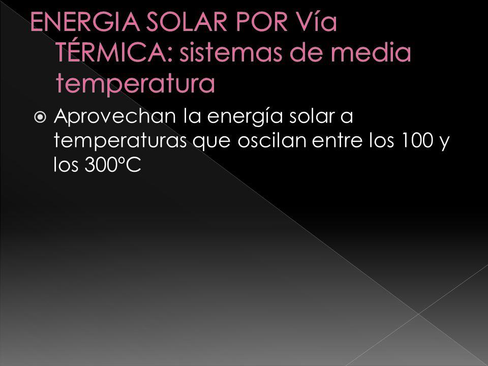 ENERGIA SOLAR POR Vía TÉRMICA: sistemas de media temperatura
