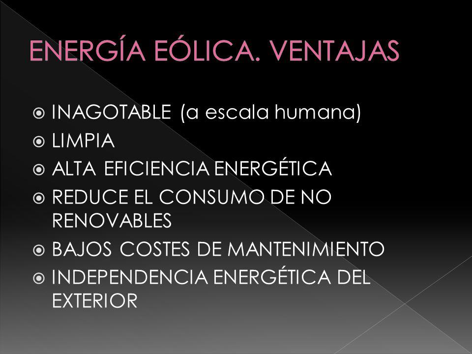 ENERGÍA EÓLICA. VENTAJAS