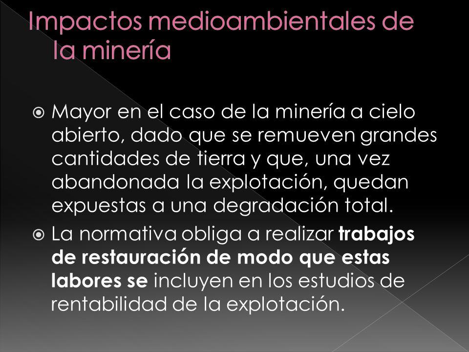 Impactos medioambientales de la minería