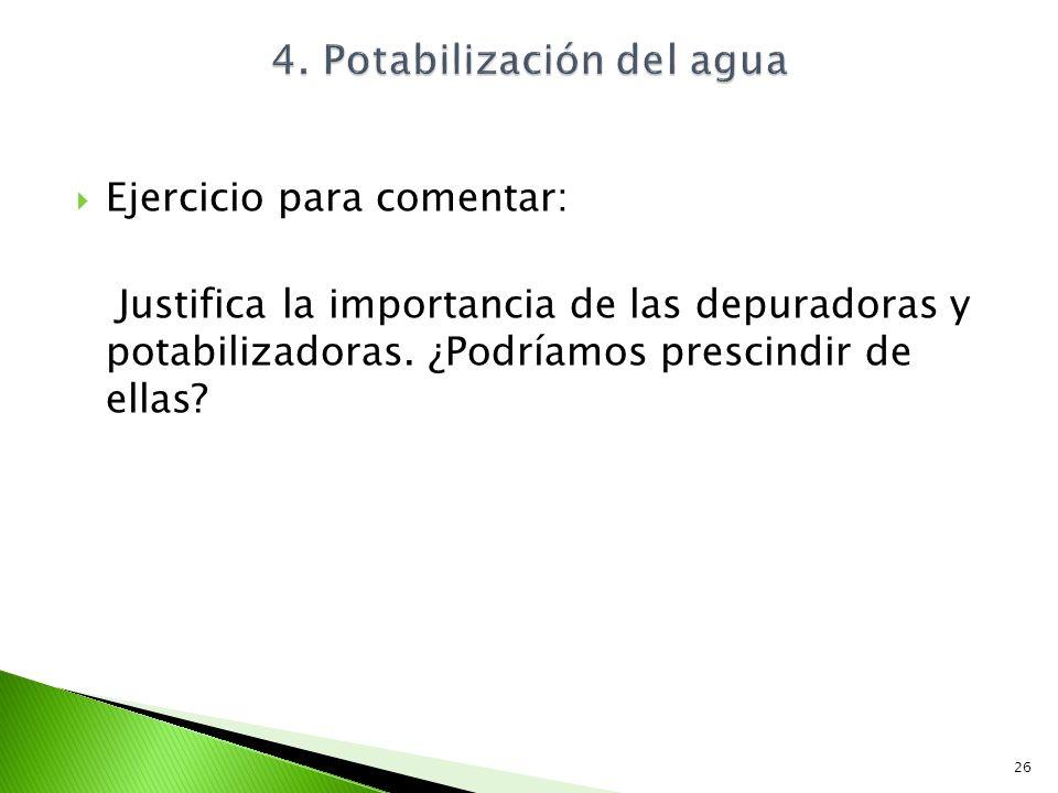 4. Potabilización del agua