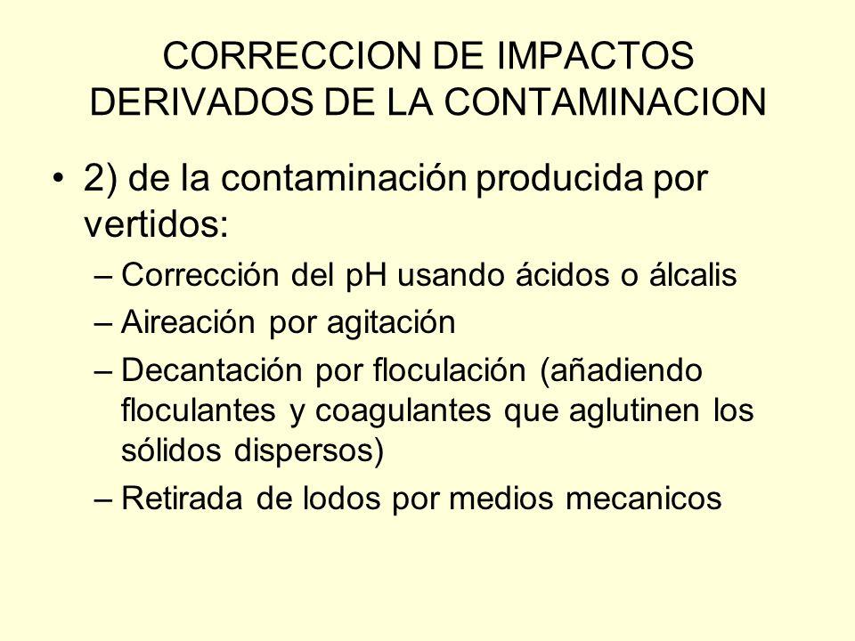 CORRECCION DE IMPACTOS DERIVADOS DE LA CONTAMINACION