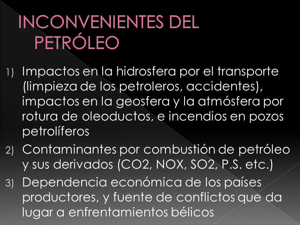 INCONVENIENTES DEL PETRÓLEO