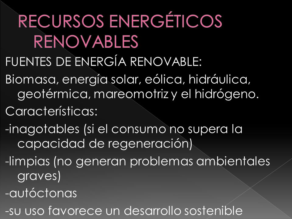 RECURSOS ENERGÉTICOS RENOVABLES
