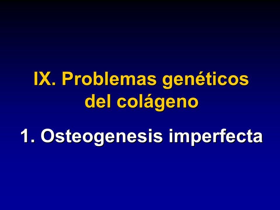 IX. Problemas genéticos del colágeno