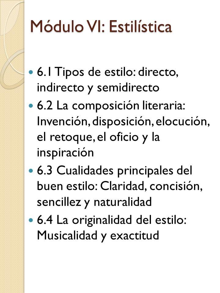 Módulo VI: Estilística