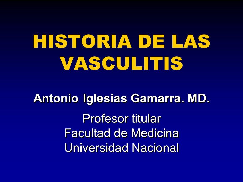 HISTORIA DE LAS VASCULITIS