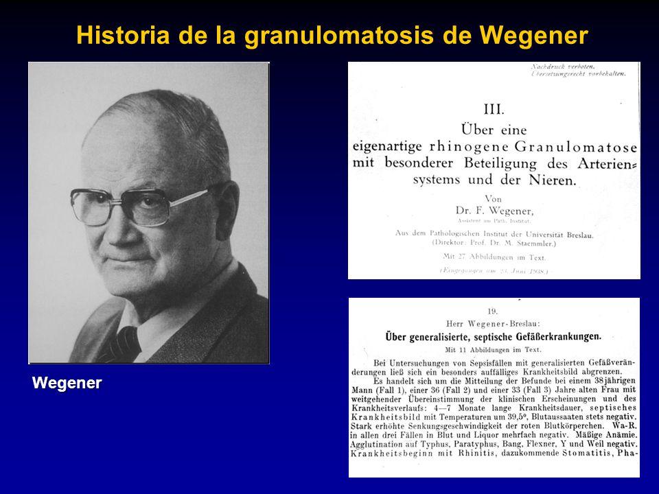 Historia de la granulomatosis de Wegener
