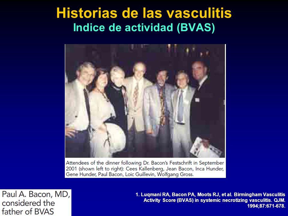 Historias de las vasculitis Indice de actividad (BVAS)
