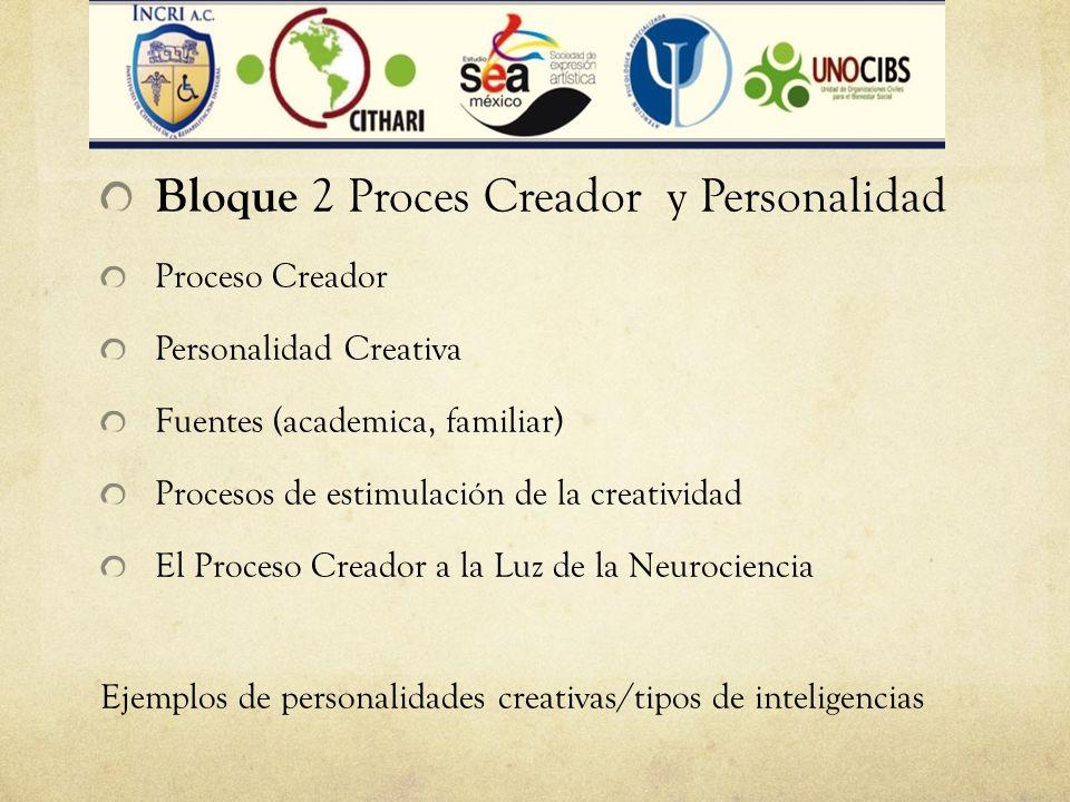 Bloque 2 Proces Creador y Personalidad