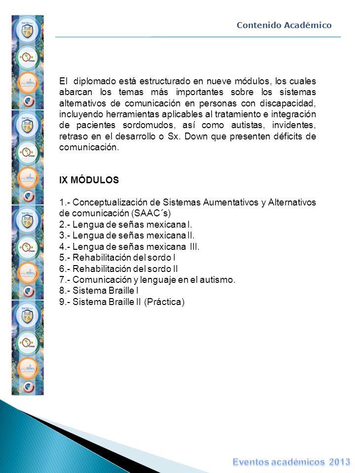 2.- Lengua de señas mexicana I. 3.- Lengua de señas mexicana II.
