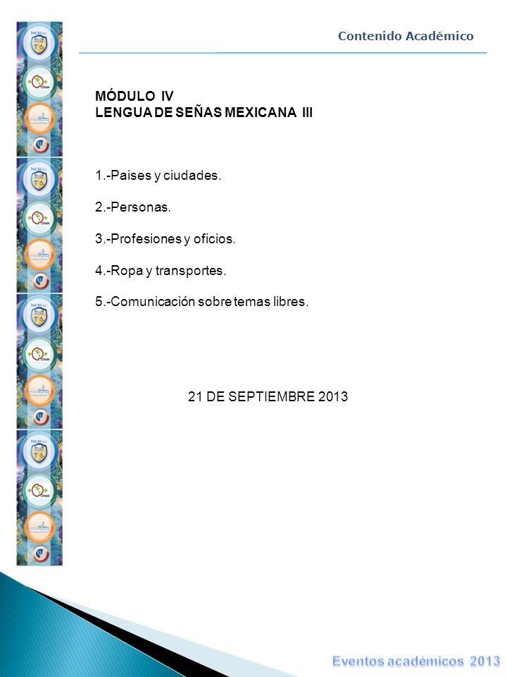 LENGUA DE SEÑAS MEXICANA III
