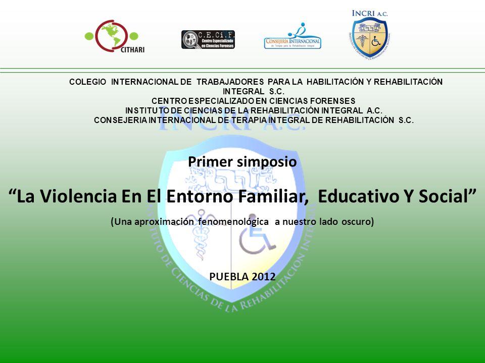 La Violencia En El Entorno Familiar, Educativo Y Social