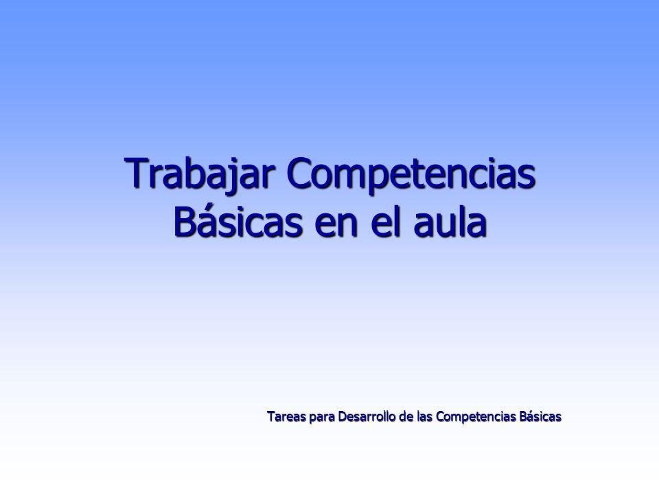 Trabajar Competencias Básicas en el aula