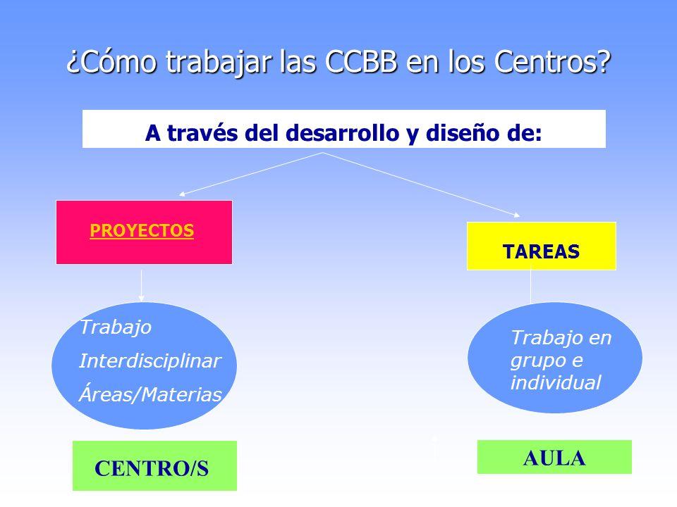 ¿Cómo trabajar las CCBB en los Centros