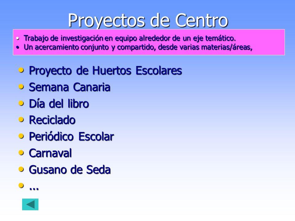 Proyectos de Centro Proyecto de Huertos Escolares Semana Canaria