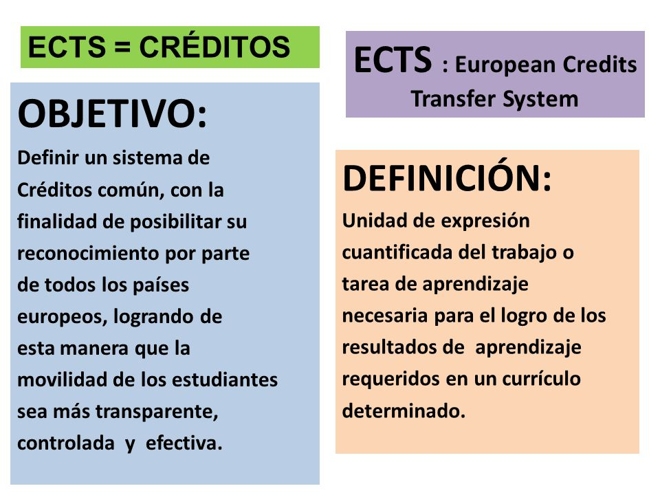 ECTS : European Credits Transfer System