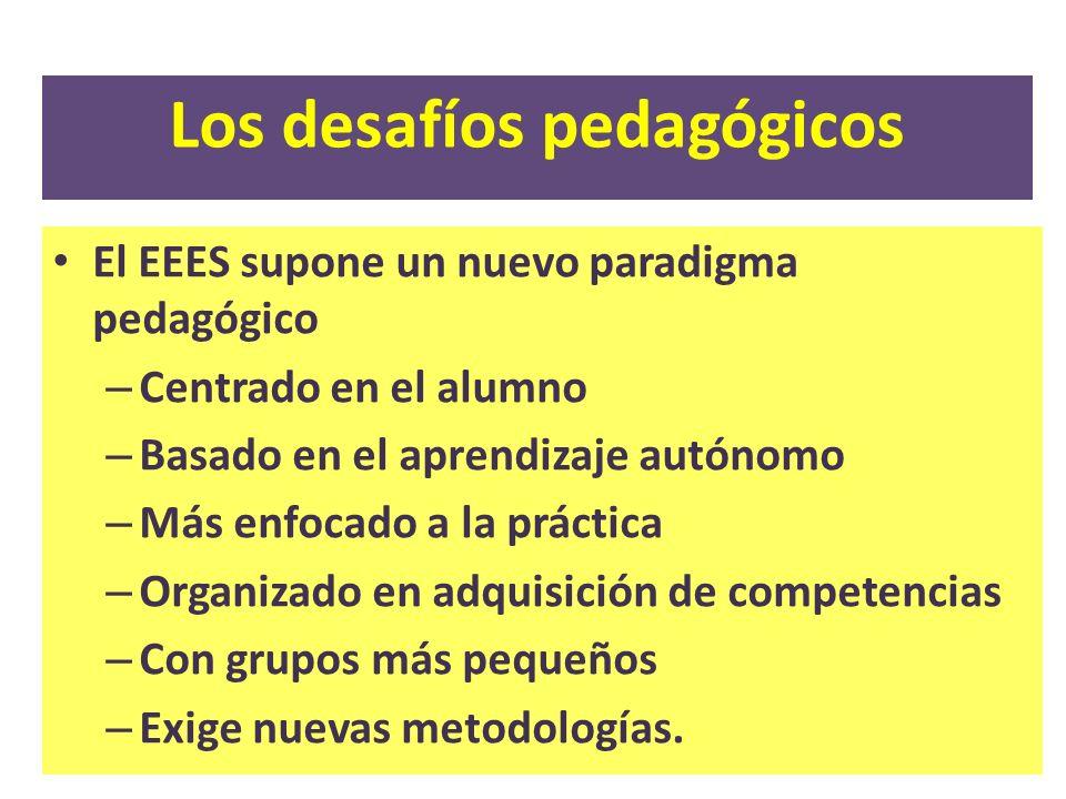 Los desafíos pedagógicos