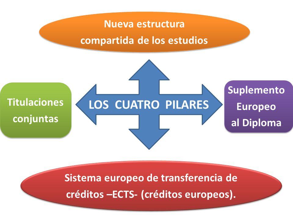 LOS CUATRO PILARES Nueva estructura compartida de los estudios