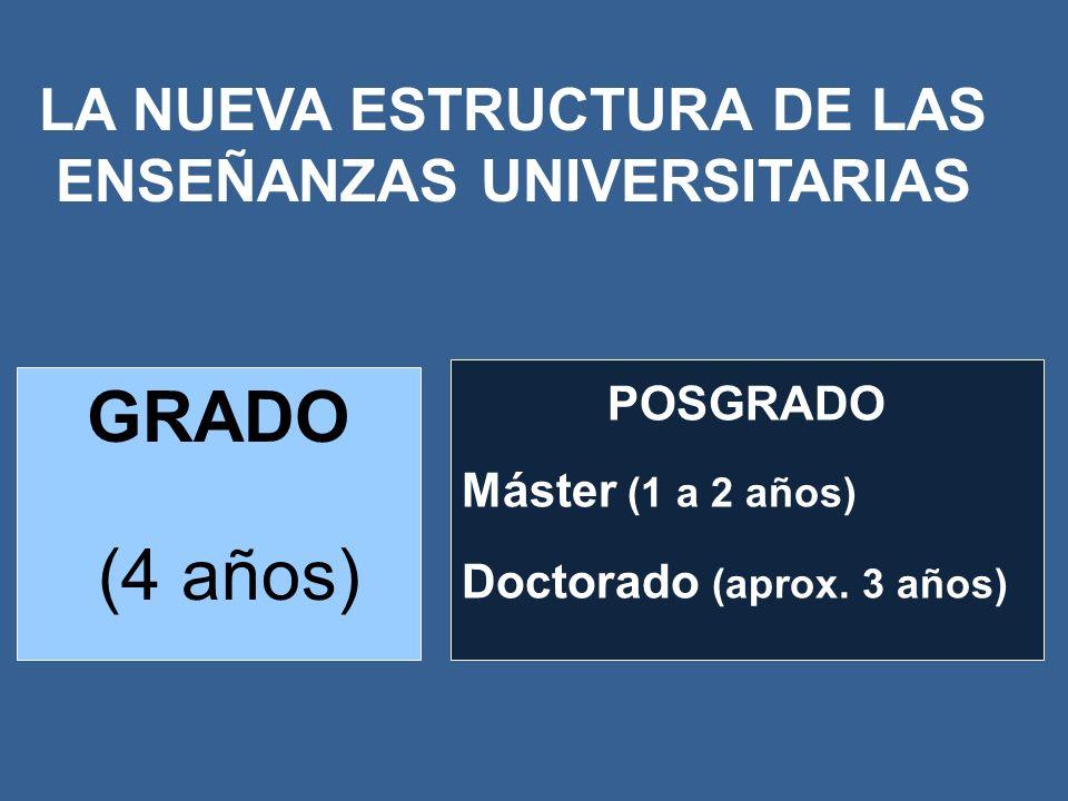 LA NUEVA ESTRUCTURA DE LAS ENSEÑANZAS UNIVERSITARIAS