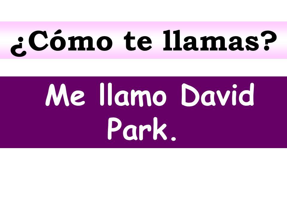 ¿Cómo te llamas Me llamo David Park.