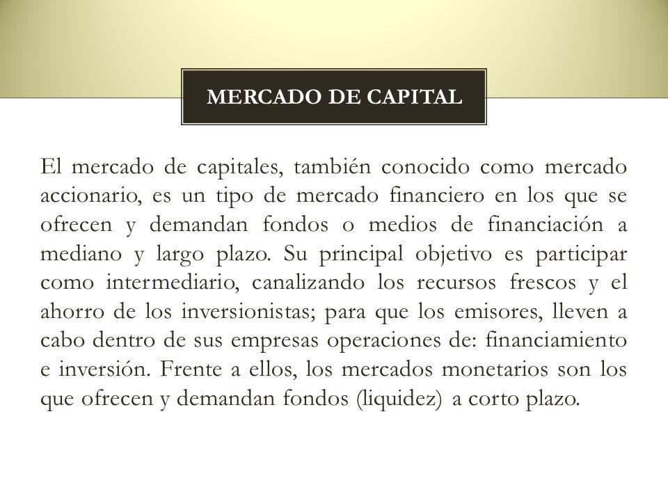 MERCADO DE CAPITAL