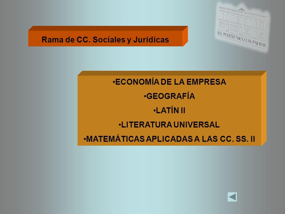 Rama de CC. Sociales y Jurídicas