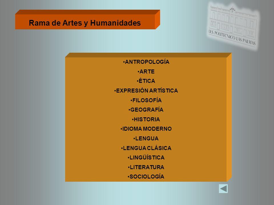Rama de Artes y Humanidades