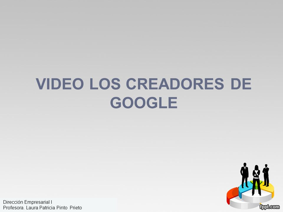 Video los creadores de Google